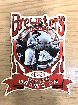 Winter Draws On Beer Pump Clip Brewsters Brewery Whimsicale Series Lady Knickers