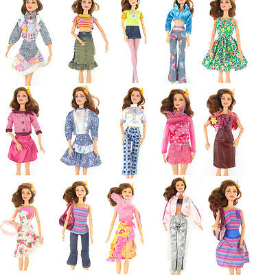 1 pc Clothes Children Daily Wear Random Dress Party Outfits For Barbie Doll r