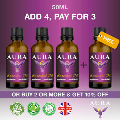 Essential Oils Pure 50ml Aromatherapy Natural Oil Fragrances Organic Diffuser