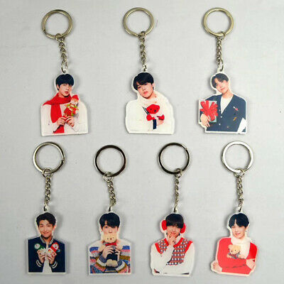 KPOP BTS Album Bangtan Boys Acrylic Keychain Personalized Key Ring JUNGKOOK JIN