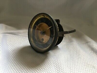 Antique Clock Movement Enamel Dial Glass Bezel For Parts