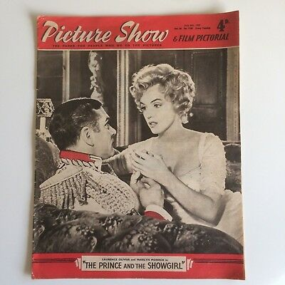 Marilyn Monroe Picture Show Magazine July 6th 1957 UK Movie Magazine TPATS Cover
