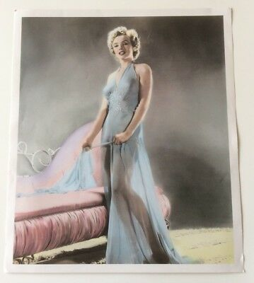 Marilyn Monroe Sexy Sheer Nightgown Hand Tinted Art Print by Pomegranate 1990