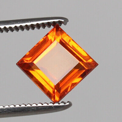 5.15 Ct. Natural Padparadscha Sapphire Ceylon Corundum Square Cut Certified Gem
