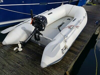 2.7m Inflatable dinghy boat with unused 2.6hp 4stroke engine V shape hull