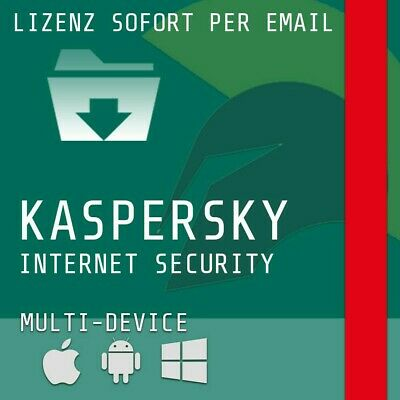 Kaspersky 2019 Internet Security, 2 Geräte, 1 Jahr, Vollversion,android+Windows