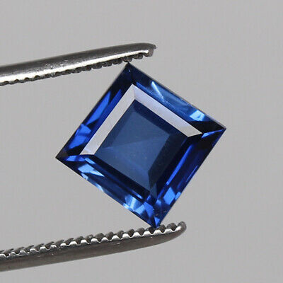 Royal Blue Sapphire 6.35 Ct Natural Kashmir Square Cut Loose Gemstone Certified