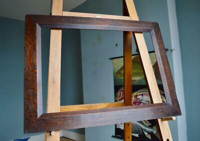 "FINE ANTIQUE EDWARDIAN OAK PICTURE FRAME 25""X17"" REBATE vARTS & CRAFTS NOUVEAU"