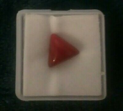 Italian Red Fire Coral 3.00ct triangle cut loose gemstone.