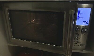 Breville Quick Touch BMO735BSS 1100W Microwave Oven WAS $399