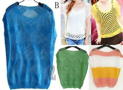WHOLESALE BULK LOT OF 20 MIXED COLOR Hollow Crochet Sweater Top Beach Cover T112