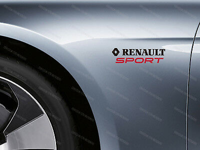 2 x Renault Sport Stickers for Wings Clio RS Megane Scenic Laguna Emblem Logo