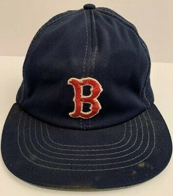 Vintage 1980 s Boston Red Sox MLB Baseball Snap Back Trucker Hat Cap RARE 22ccc7470c67