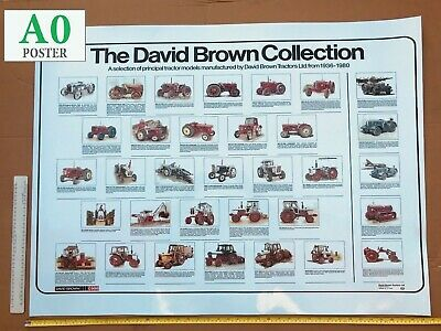 David Brown Tractor Poster 'The Collection'