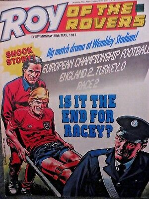 Roy Of The Rovers Comic 30/5/1987 Vintage Rare Vgc