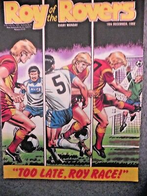 Roy Of The Rovers Comic 10/12/1988 Vintage Rare Vgc