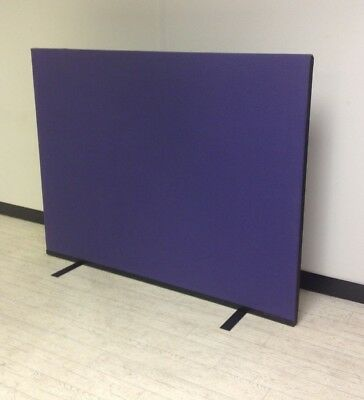 1600W x 1200H Violet Woolmix PanelWarehouse Office Screen Divider Partition
