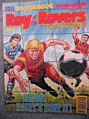 Roy Of The Rovers Comic 23/9/1989 Vintage Rare Vgc