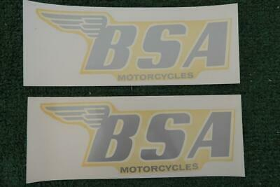 NOS BSA Genuine Vintage SET OF 2  BSA GAS TANK DECALS