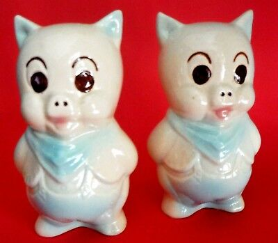 AMERICAN BISQUE / Pair of Large Pig Shakers
