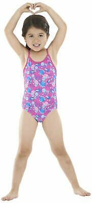 Zoggs Girl's Miss Zoggy Fly Back Swimming Costume. Perfect for Lessons / School