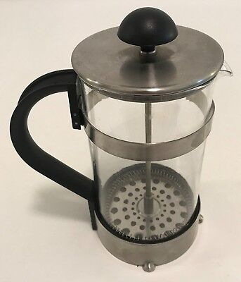 Ikea Stainless Steel Black French Press Coffee Maker Pyrex Gl 7 Tall