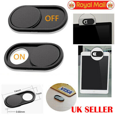 UK Webcam Cover Slider Camera Shield Privacy Protect Sticker for Laptop iPhone X