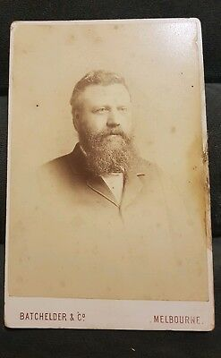 Large 1800s Portrait Cabinet Card Photograph Batchelder & Co 'Hon. D. Coutts'