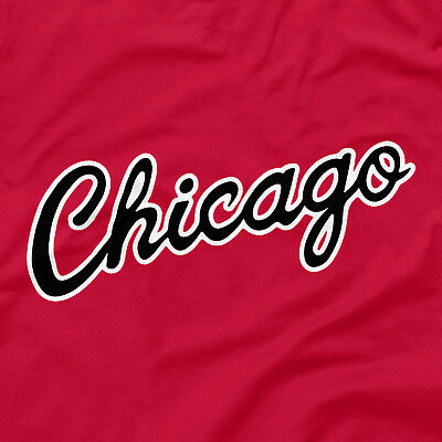 Chicago Bulls Shirt City Script Logo Red Size S M L XL 2XL 3XL 4XL 5XL Jordan MJ