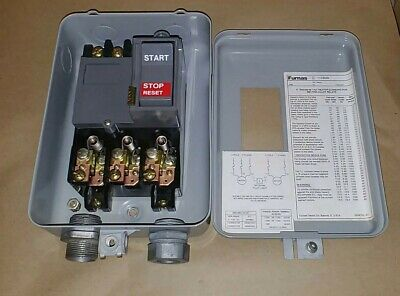 Furnas 11CB3B 3 Pole 115-575V Size M-0 Manual Motor Starter & Enclosure