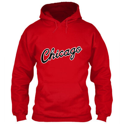 Chicago Bulls Hoodie City Script Logo Red Sz S M L XL 2XL 3XL 4XL 5XL Sweatshirt