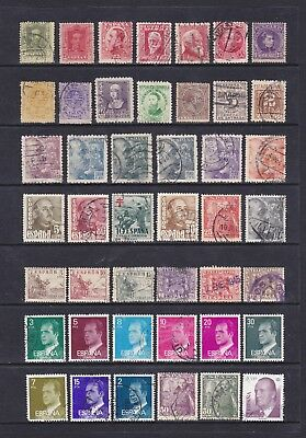 Spain (1) - Another Good Lot Of 44 Used Stamps - See Scan