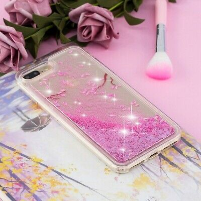 For iPhone 6s 7 8 Plus X Dynamic Liquid Glitter Quicksand Slim Clear Case Cover