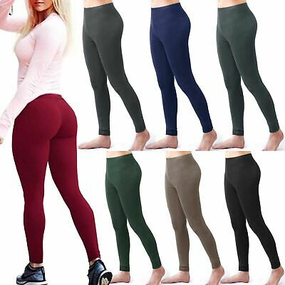 Women's Thick Fleece Winter Thermal Leggings Ladies Skinny Fitness Gym Trousers