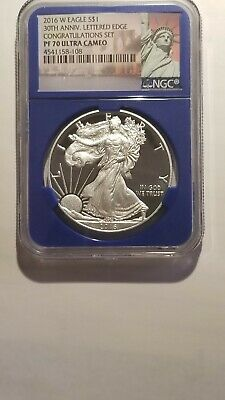2016 W 30TH Anniv. NGC PF 70 UC in Blue Core Congratulations Set ! Mintage 5996