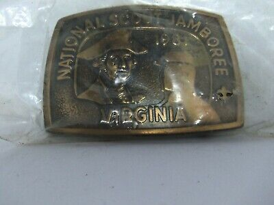 Vtg Boy Scout America National Jamboree 1981 Virginia BSA Brass NOS Belt Buckle