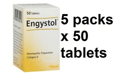 5 x Engystol N homeopathic tablets for viral infections / 5 packs x 50 tablets /