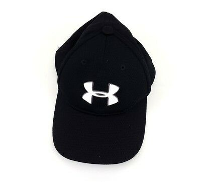 0e64176f232 Under Armour Blitzing II Stretch Fit Youth Black   White Hat