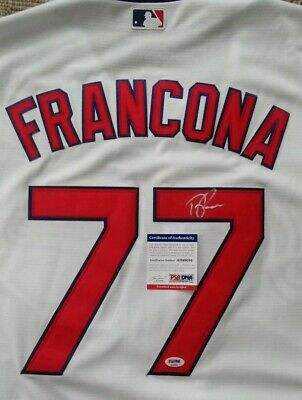 905b10a27 Cleveland Indians- Terry Francona Signed White Majestic Jersey Psa dna  Ad99094