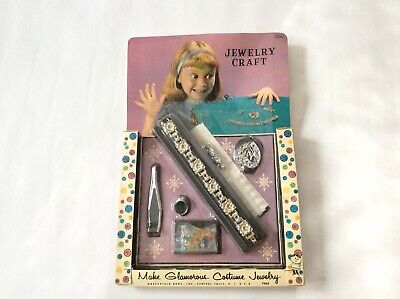 Vintage Hasbro Jewelry Craft Kit Jewelry Toy Girl Hassenfeld Bros. Inc. U.S.A