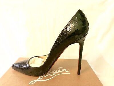 san francisco 9f527 682a3 CHRISTIAN LOUBOUTIN PIGALLE 120 Python Crystal Pumps Heels 42 UK 9 US11.5