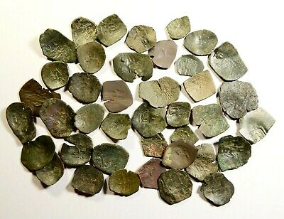 LOT OF 40 ANCIENT BYZANTINE CUP COINS - 17 - small cores