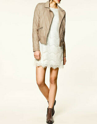 reputable site 0f458 8130d GIACCA ZARA IN eco pelle cipria tg. S