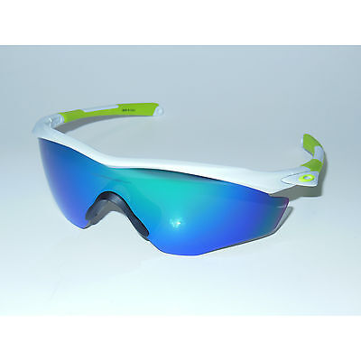 8b226bc8ce1 New  Oakley M2 Frame XL Sunglasses Polished White Jade Iridium Green  Cycling USA