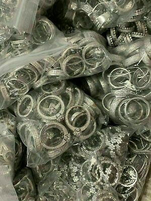 Scrap Genuine Silver .925 Scrap Rings 1 Kilo - Great DEAL! CZ Rings - Brand New