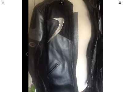 Lewis leather silver flash motorcycle jacket size 40