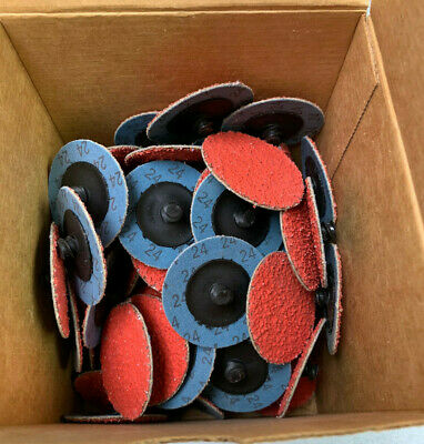 24 Grit Ceramic Sanding Discs (NEW) QTY 75