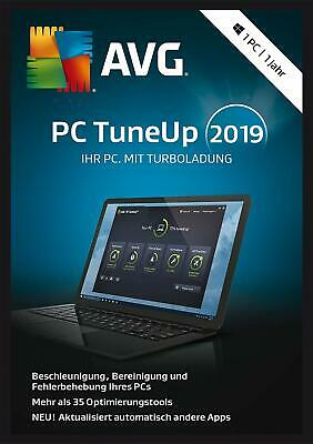 AVG PC TuneUp 2019 - TuneUp Utilities - 3 PCs / 1 Jahr Vollversion NEU