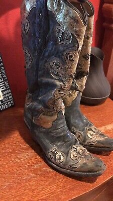 68736dc246c5 Corral Ladies Taupe Glitter Inlay & Studs Snip Toe Boots C3409.