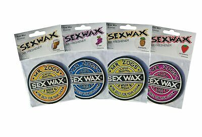 Mr Zogs Sex Wax Air Freshener. 4 Scents Available, Surf Van Car Beach